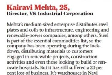Mumbai Mirror's Sunday Read article: The Business of Survival May 2020 – Interview by Kairavi Mehta, Director VKICL.